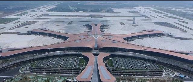 北京大興国際空港の様子 出所:Huawei
