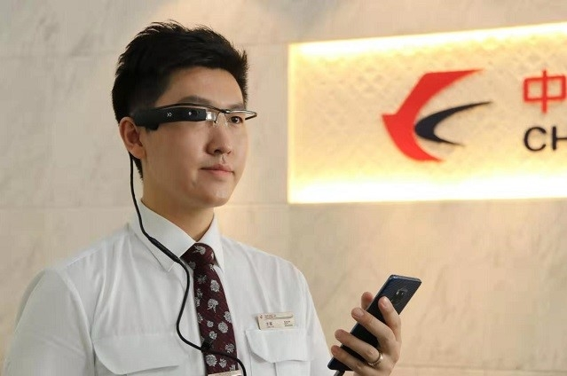 中国東方航空の5G+ARサービス 出所:Huawei