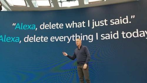 Alexaのプライバシーへの対応を説明するリンプ シニアバイスプレジデント