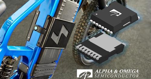 実装面積が9.8mm×11.68mmと小さいTOLLパッケージに封止した+60V/+100V耐圧パワーMOSFET。Alpha and Omega Semiconductorのイメージ