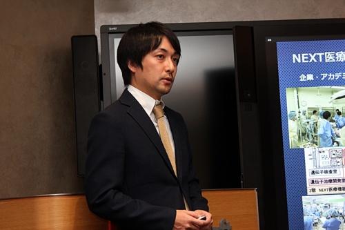 国立がん研究センター東病院大腸外科の医師である竹下修由氏。同病院の機器開発推進室とNEXT医療機器開発センターにも所属している。