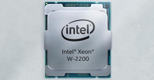 今回の新製品の「Xeon W-2200シリーズ」。Intelの写真