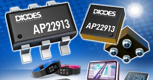スルーレート制御機能や逆電流阻止機能を備える負荷スイッチIC。Diodesのイメージ