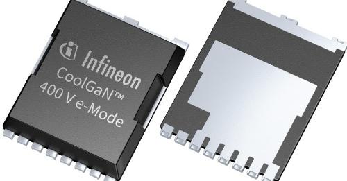 D級アンプに向けた400V耐圧のGaNパワートランジスタ。Infineonの写真
