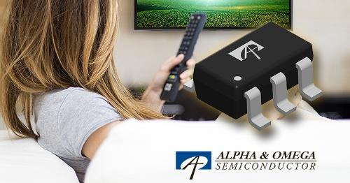 軽負荷時の効率を6%高められる降圧型DC-DCコンバーターIC。Alpha and Omega Semiconductorのイメージ