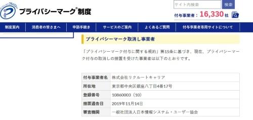 日本情報経済社会推進協会(JIPDEC)のWebサイト