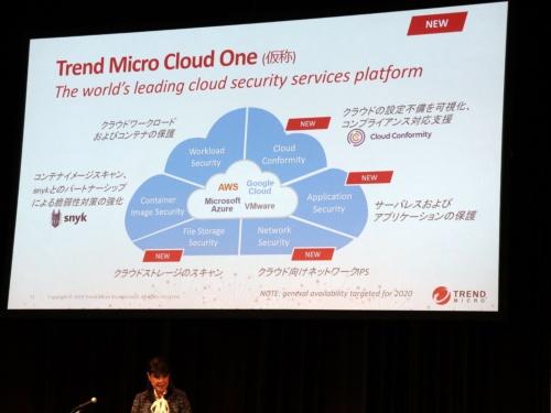 新セキュリティー基盤「Trend Micro Cloud One(仮称)」を発表