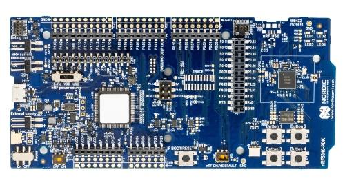 評価キットの「nRF5340 PDK」に含まれるボード。Nordicの写真
