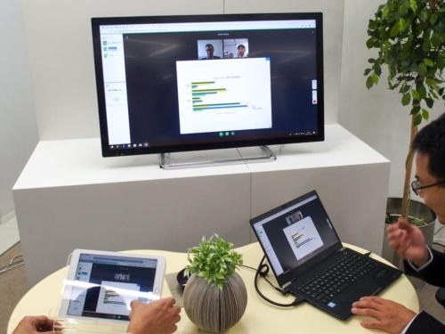 写真1●シャープ子会社のAIoTクラウドがビジネスコミュニケーションサービスを発表