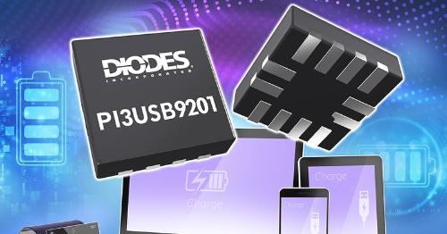 ホスト側とクライアント側の両方に使える「USB BC 1.2」準拠の充電タイプ検出IC。Diodesの写真