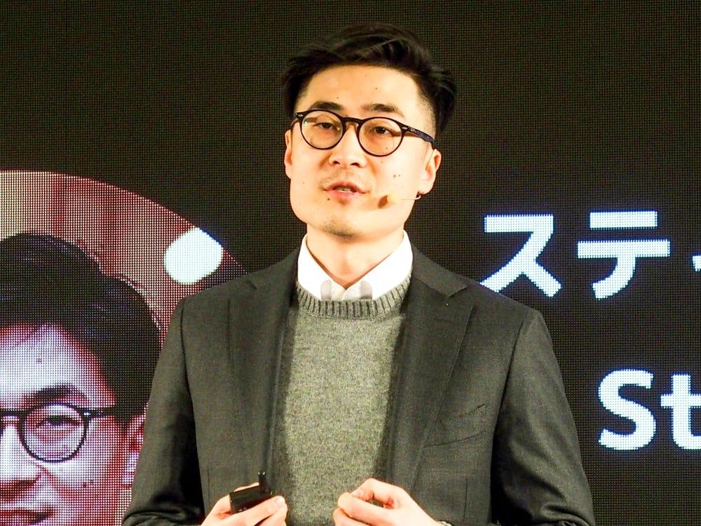 写真1●Xiaomi グローバル東アジア地域ジェネラルマネージャーのスティーブン・ワン氏 (撮影:山口 健太、以下同じ)