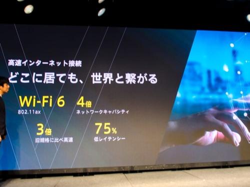 写真10●Wi-Fi 6に対応