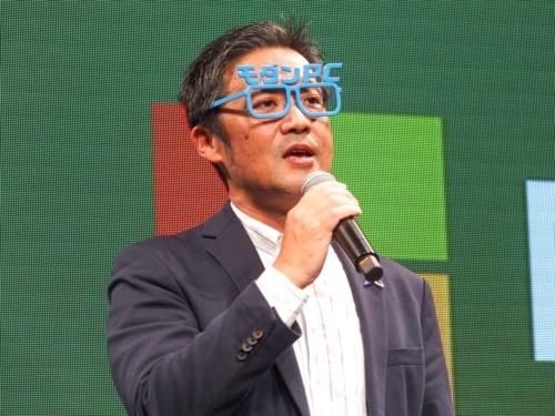 写真11●日本マイクロソフト 執行役員コンシューマー&デバイス事業本部デバイスパートナー営業統括本部長の梅田成二氏