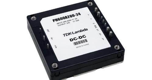 1/2ブリックで600W出力のDC-DCコンバーターモジュール。TDKラムダの写真