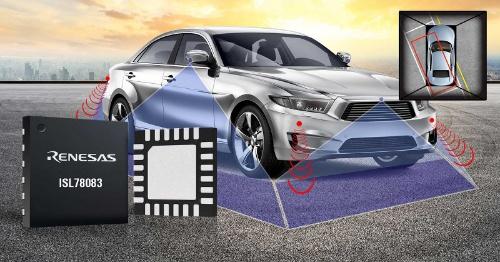 車載サラウンド・ビュー・カメラに向けたシステム電源IC。ルネサス エレクトロニクスのイメージ