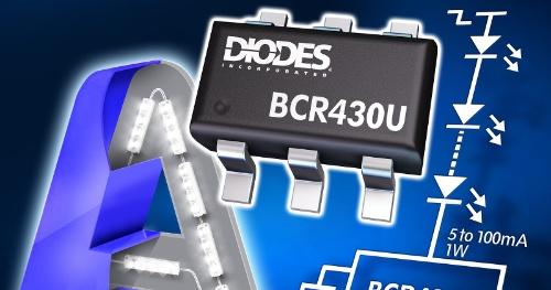 ドロップアウト電圧が115mVと小さいリニア方式のLEDドライバーIC。Diodesのイメージ
