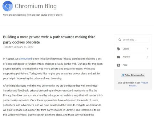米グーグルのブログ画面