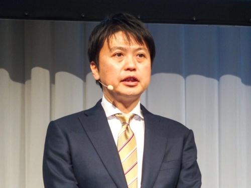 写真1●NECパーソナルコンピュータの河島良輔執行役員