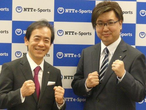 図2 NTTe-Sportsの代表取締役社長に就任予定の澁谷直樹氏(写真左)と同取締役副社長に就任予定の影澤潤一氏(写真右)