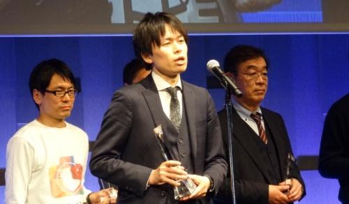 ビジネスコンテスト部門でグランプリを受賞したシーアイ・インクの園田正樹社長(撮影:日経 xTECH)
