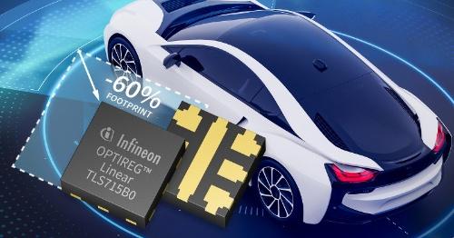 実装面積が2.0mm×2.0mmと小さい8端子TSNP-7に封止したLDOレギュレーターIC。Infineon Technologiesのイメージ