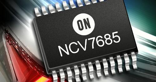 プログラマブルなリニア電流源を複数個集積した車載用LEDドライバーIC。ON Semiconductorのイメージ