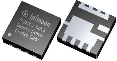 ソースダウン構造のパッケージに封止した25V耐圧のパワーMOSFET。Infineon Technologiesの写真