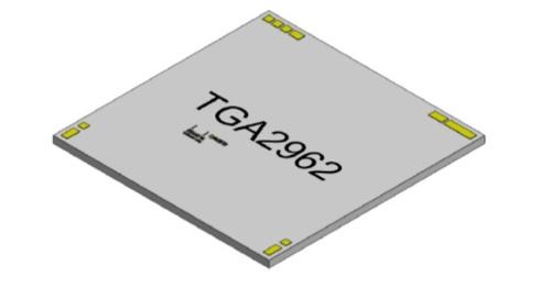 対応する周波数帯域が2G〜20GHzと広く、RF出力が10Wを超えるGaNパワーアンプIC。Qorvoのイメージ