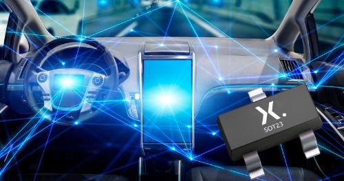 「OPEN Alliance」仕様に準拠した車載Ethernet向けESD保護IC。Nexperiaのイメージ