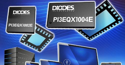 USB 3.2に向けた10Gビット/秒対応の小型リドライバーIC。Diodesのイメージ