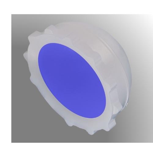 図3:「Aquala」でコーティングした寛骨臼ライナーのイメージ(出所:京セラ)