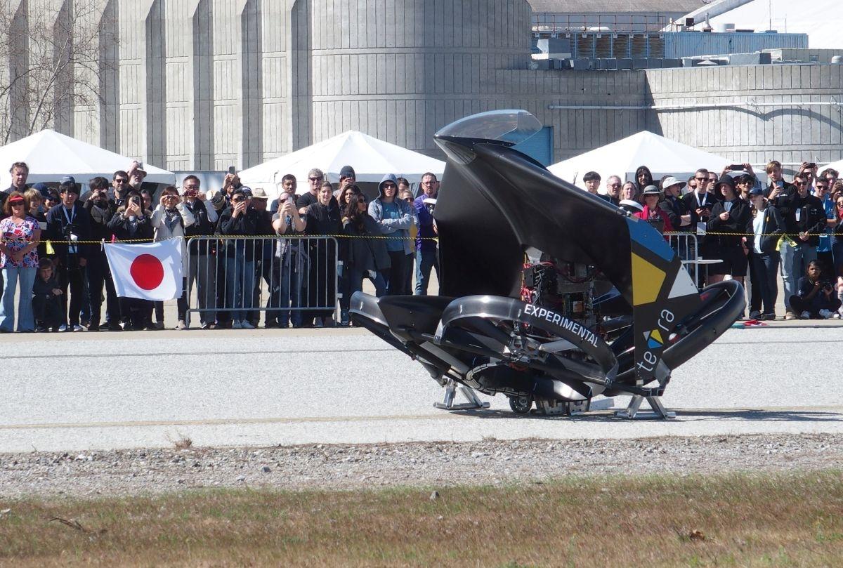 teTraの機体 (撮影:日経クロステック)