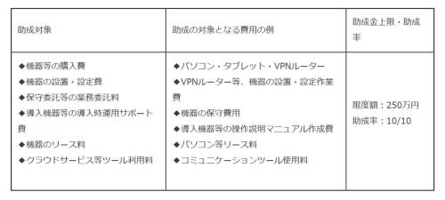助成対象。限度額は250万円(資料:東京都)