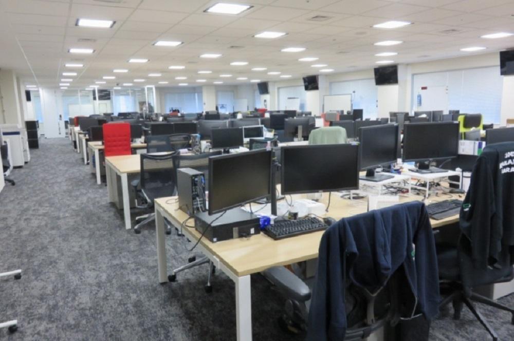 リモートワーク期間中のオフィスの様子 (出所:GMOインターネット)