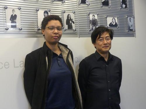 右から京都研究室の室長となる暦本純一氏(ソニーCSL副所長)と同研究室を拠点として研究活動するシナパヤ・ラナ氏(同社 アソシエイト リサーチャー 理学博士)