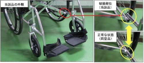 図4:当該製品の破損した部位(出所:国民生活センター)