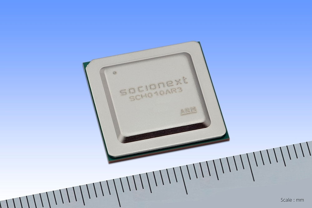 試作したチップ ソシオネクストの写真