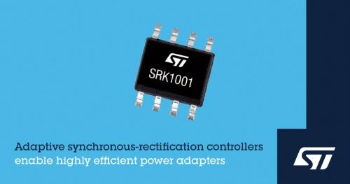 適応型アルゴリズムを採用した2次側同期整流用制御IC。STMicroelectronicsのイメージ