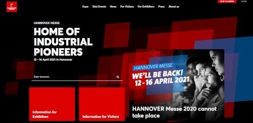 ハノーバーメッセは2020年の開催中止が決まった(出所:ドイツメッセ)