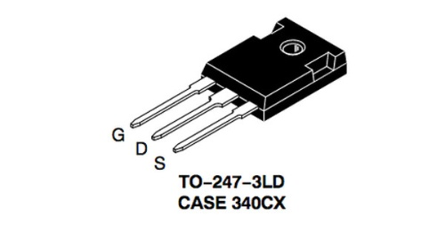 高速スイッチングに対応した+1200V耐圧SiCパワーMOSFETのパッケージであるTO-247。