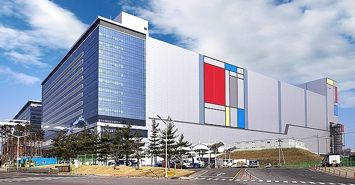 Samsungの半導体工場 Samsungの写真