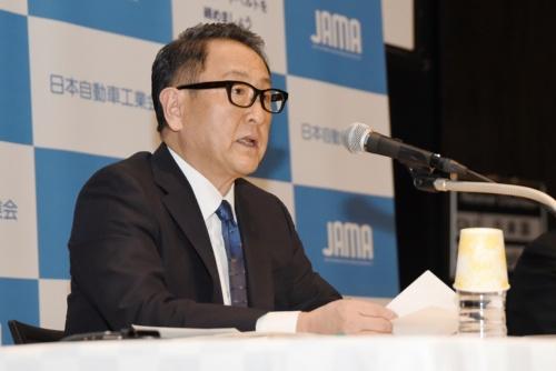 図 日本自動車工業会の豊田章男会長