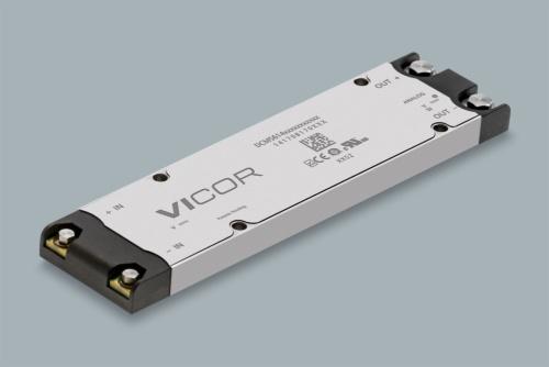 +270Vの入力電圧を+28Vの出力電圧に96%の効率で変換できる最大1300W出力のDC-DCコンバーターモジュール。Vicorの写真