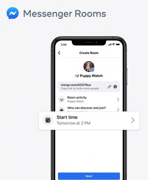 ミーティングの時間を設定し、リンクを送ることで参加できる