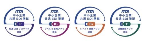 中小企業共通EDI(共通EDI)に準拠した製品・サービスの認証マーク