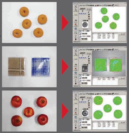 図2:不定形物の検出イメージ バラツキの大きな食品や衣料品を検出できる。(出所:ヤマハ発動機)