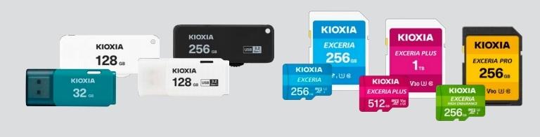 今回発売の製品例 キオクシアのイメージ