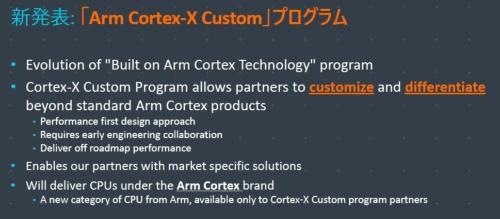 「Arm Cortex-X Custom」の概要