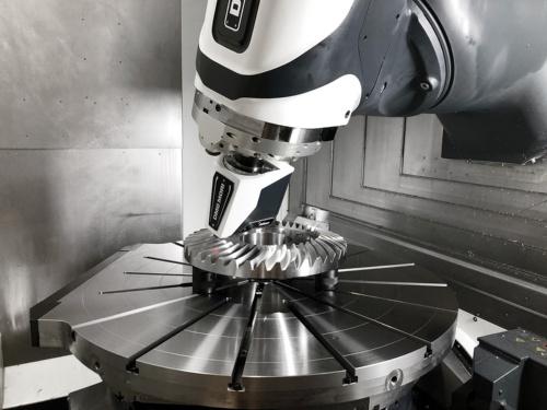 非接触レーザースキャナー「LC15Dx」を搭載した工作機械のイメージ