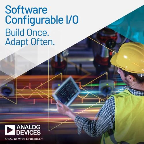 ソフトウエアを使って設定可能な4チャネル構成の入出力ICを搭載した具体的な応用例。